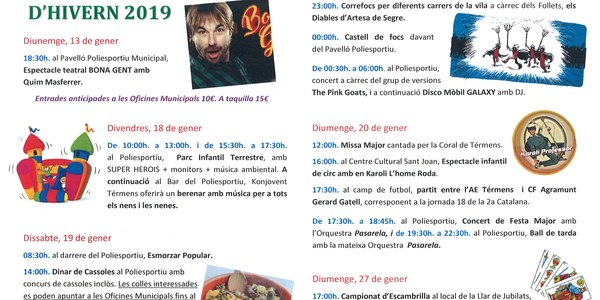 FESTA MAJOR D'HIVERN 2019